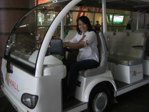 I got to pretend-drive the e-shuttle