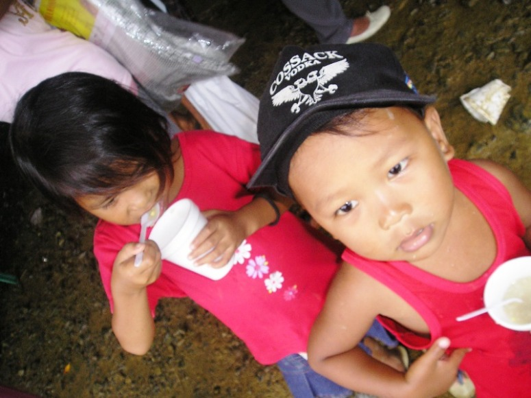 the kids of battered Albay