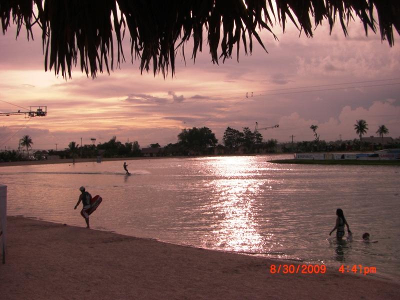twilight at the manmade CWC lake