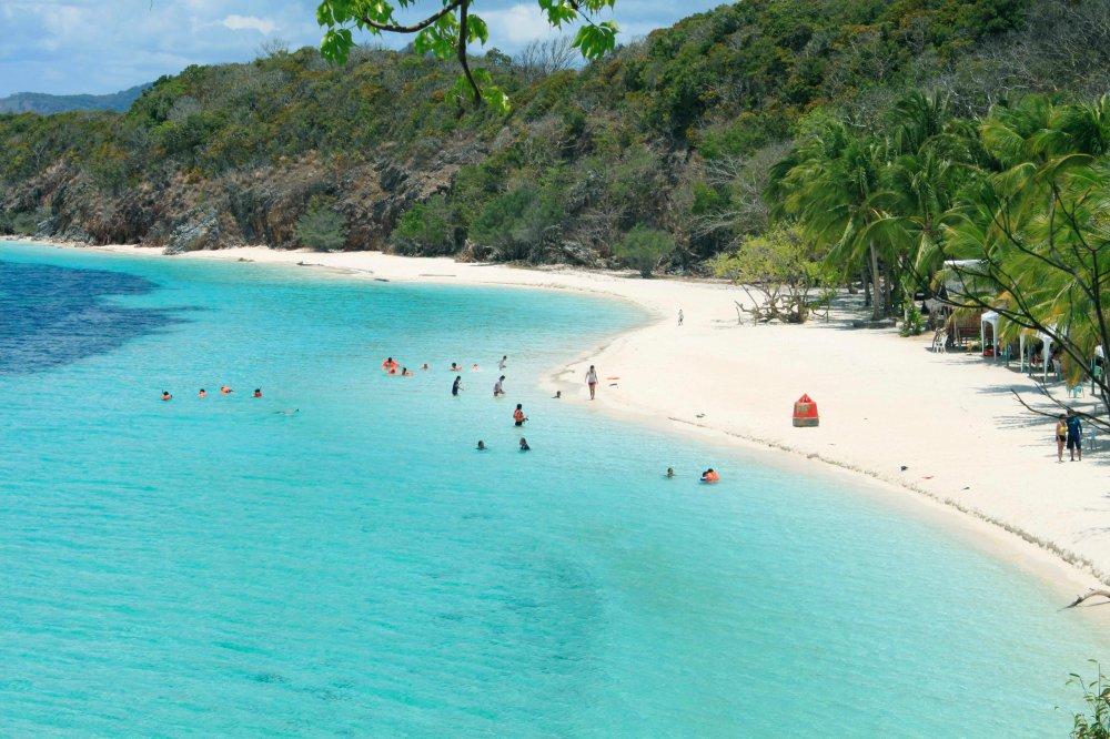 The captivating beach of Malcapuya