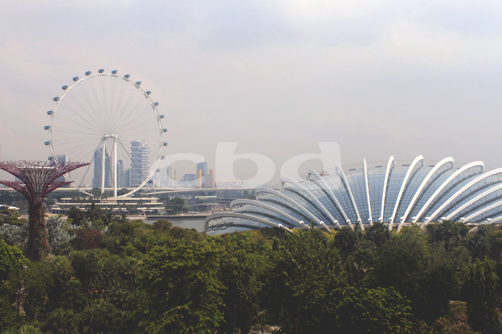 Ang Singapore Flyer sa kaliwa: Singapore's version of the London Eye.